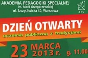 Akademia Pedagogiki Specjalnej zaprasza na Dzień Otwarty