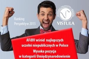 Akademia Vistula wśród najlepszych uczelni niepublicznych