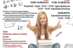 Kursy do matury poprawkowej z matematyki w MWSLiT