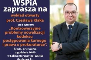 WSPiA zaprasza na kolejny wykład otwarty