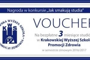 """Konkurs """"Jak smakują studia"""" KWSPZ w Krakowie"""