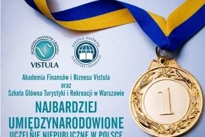 AFiB Vistula oraz SGTiR to najbardziej umiędzynarodowione uczelnie niepubliczne w Polsce