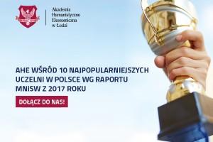 AHE w Łodzi jedną z najpopularniejszych uczelni w Polsce