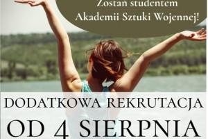 Rekrutacja dodatkowa na studia I i II stopnia w ASzWoj