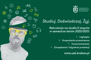 Trwa rekrutacja na studia drugiego stopnia na UE w Krakowie