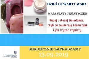Co zawierają kosmetyki i jak czytać etykiety - Dzień Otwarty w WSIiZ