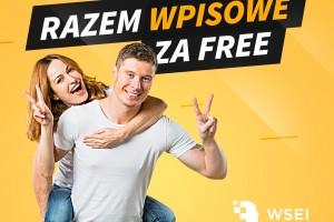 """""""Razem wpisowe za FREE"""" – promocja na Wyższej Szkole Ekonomii i Informatyki w Krakowie"""