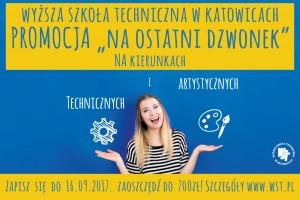 """Promocja """"Na ostatni dzwonek"""" w Wyższej Szkole Technicznej w Katowicach"""
