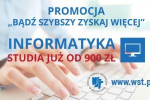 Promocja dla studentów informatyki Wyższej Szkole Technicznej w Katowicach
